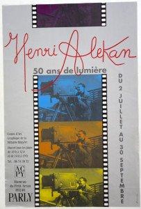 henri Alekan (1909 - 2001)Affiche 50 ans de lumière format 60x40