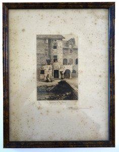 la maison à la tour - feuillet 32x24 bassin 18x11