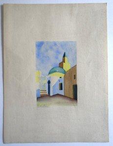 aquarelle sur papier F. Barjon format 15x9.5 sur 32x24