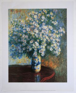 Claude Monet - Edition 2000 - Bouquet d'Asters - format 41x33 sur 50x40