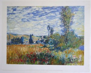 Claude Monet - Edition1999 - Vertheuil - format 33.5x44 sur 40x50
