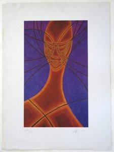 Edition sur papier - (femme) 250 ex. format 45x27 sur 62x45.5