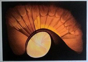 (Ellipse ou coquillage) - E.A sur papier Arches - gformat 45x64 sur 52.5x73