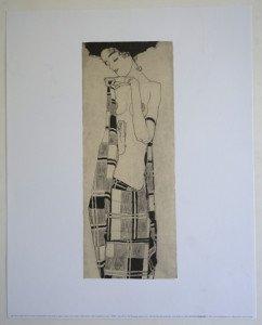 Gerti Schiele au drapé à carreaux - Editions NouvellesImages 1995 tirage inconnu - format 38x15 sur 40x50