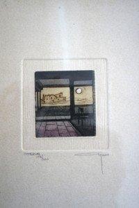 gravure feuillet 23x16 - bassin 6.7x6.2 - N° 15 sur 100