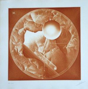 Gravure Héliographique 1985 Pierre Brochet - (Brique) - 55 sur 85 ex
