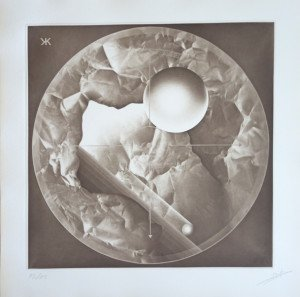 Gravure héliographique 1985 Pierre Brochet  - (brun) - 55 sur 85 ex