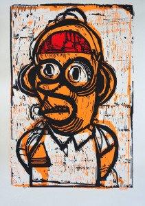 Homer - sérigraphie 3 passages - 50 exemplaires - timbre à sec Le dernier cri - format 57x39 sur 70x50