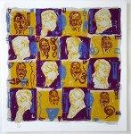 Hommage à Paul Valéry I - sérigraphie format 45x43  - N° 9 sur 60