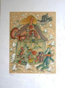 Lithographie avec gauffrage  sur Arches - Suite Noël II - 250 exemplaires - format 44x34 sur 66x48