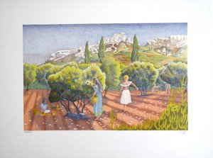 Lithographie - Le Papillon - sur Arches 275 exemplaires - format 32.5x50 sur 49x65