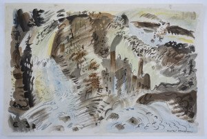 Lithographie - Le Torrent - format 35.5x53.3