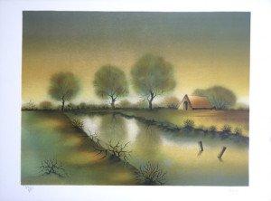 Lithographie (sans titre) - 32 sur 275 ex. - format 41.5x54 sur 48x65