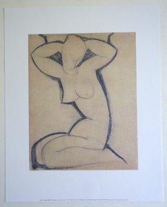 Offset - Amadeo Modigliani - Cariatide - Editions NouvellesImages 1997 Tirage inconnu - format 35x28 sur 40x50