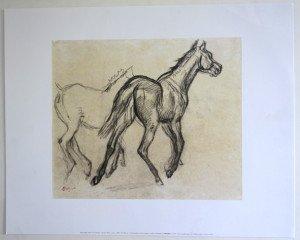 Offset - Edgar Degas - Chevaux - Editions NouvellesImages 1999  Tirage inconnu - format 28x33 sur 40x50