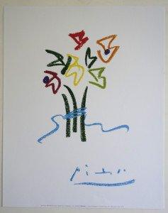 Offset - Pablo Picasso - Fleurs du soir - Editions NouvellesImages 1997 tirage inconnu - format 50x40