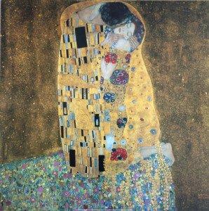 Print 2004  Klimt - Der kruss - format pleine page 60x60