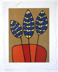Print - Delphinium - format 50x40