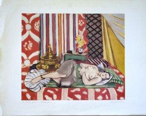Print - Matisse  Odalisca con pantalone grigio - Ed Il Grifo - format 56x71