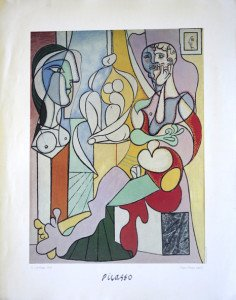 Print - Picasso  Le sculpteur - format 71x56