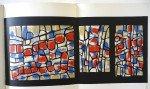Raoul Ubac. Lithographie Atelier Maeght d'après la maquette du vitrail de la Chaqpelle St Bernard - Format 25x54 sur 38x54