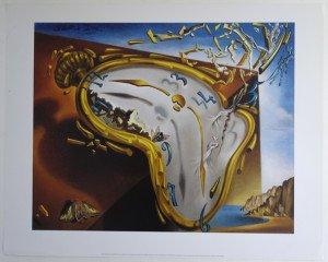 Salvador Dali - Edition 2000 - Montre molle au moment de l'explosoin - Format 33x41 sur 40x50