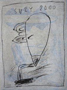 sérigraphie sur cartonnette - Suzy 2000 - 1988 50 ex. Format pleine page 63x47