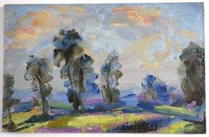sur bois (paysage campagne 20 10 1975) format