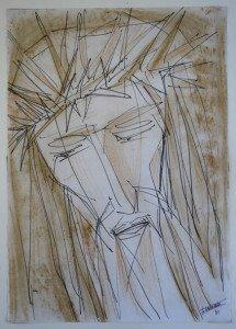 sur papier - (Christ) format 42x30