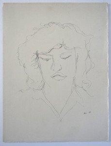 sur papier (portrait) format 33x25.5