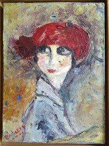 sur toile -A la Modigliani - format 33x24