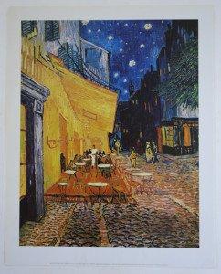 Vincent Van Gogh - Edition 2002 - Terrasse de café la nuit Arles 1888 - Format 43.5x34.5 sur 50x40