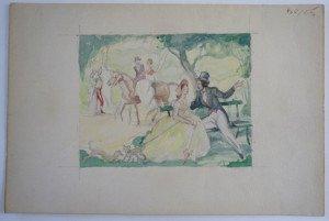 aquarelle papier Barjon Moirans annotée 50-65 format 10x13 sur 16x24