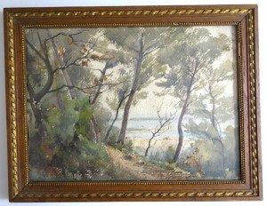 aquarelle sur papier dessin format 25x33 titré dans la planche