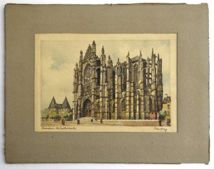 Beauvais la cathédrale format 12x18 hors texte