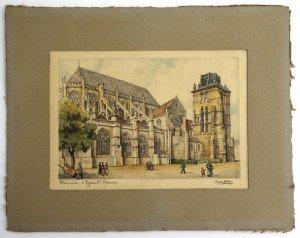 Beauvais l'égliste St Etienne format 12x18 hors texte