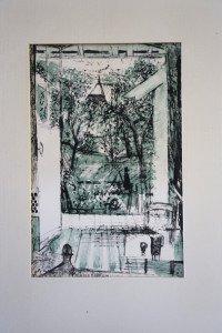 lithographie Epreuve artiste format 22.2x14.8