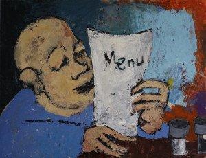 toile - titre Menu - format 50x65
