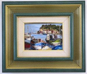 sur toile -Port de Sanary 1992 -  format 13x18