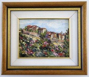 sur toile - Roquebrume 1995 - format 14x18