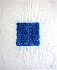 acrilique et grattage sur papier chiffon - format 52x42 - séquence temporelle 1 - PA 97