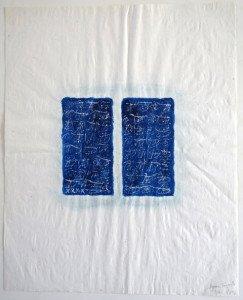 acrilique et grattage sur papier chiffon - format 52x42 - séquence temporelle 3 - PA 97