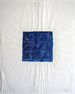 acrilique et grattage sur papier chiffon - format 52x42 - séquence temporelle 4 - PA 97