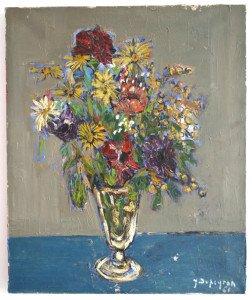 Fleurs - Sur toile format 46x38 signé daté 61