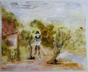 ébauche aquarelle format 21x26