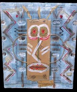 1994 carton chinette aux longues moustaches avec sa minette dans la couette