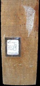 1999 bois planche de chantier trouvée sur un chantier (80 x 23.5 x 4)