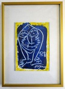 acrylique sur papier Format 18x13 daté 1998