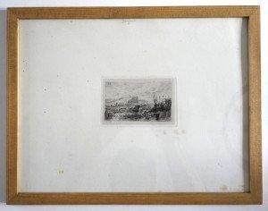 gravure sur papier format 27x35 bassin 7.5x11