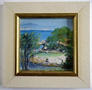 sur carton fort - La jolie crique AN 2003 N° 2485 - format 11x11
